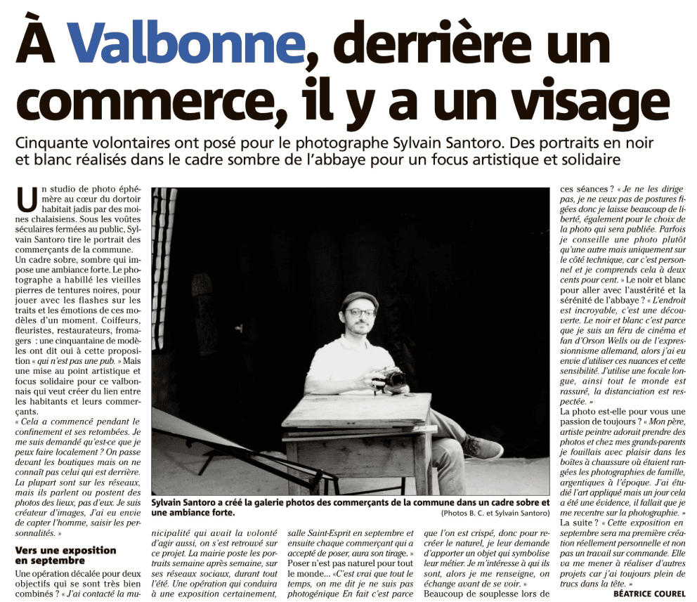 Article Nice Matin Portraits de Commerçants VSA